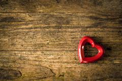 wooden valentin background - stock photo