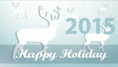 Seasons greetings. Happy Holiday. Stock Footage