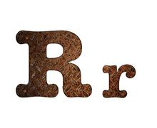 letter r rusty metal. - stock illustration