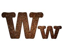 letter w rusty metal. - stock illustration