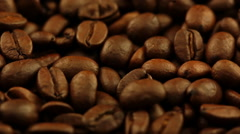 Roasted coffee grain closeup Stock Footage