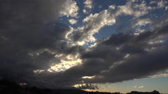 4K Slow Moving Clouds Late Afternoon Time Lapse - stock footage
