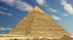 Pyramid of Khufu. Zoom. Cairo. Egypt. Stock Footage