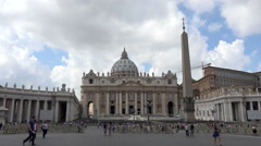 Rome Italy Vatican St Peters Basilica fast 4K 022 Stock Footage