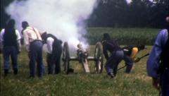 ARTILLERY CANNON Fire! American Civil War 1860 Vintage Film Home Movie 8032 Stock Footage