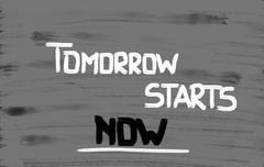 tomorrow starts now concept - stock illustration