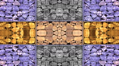 Stone color Abstract kaleidoscope background vj lights 1920x1080 Stock Footage