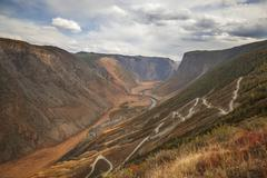 Mountain pass katu-yaryk, altai Stock Photos