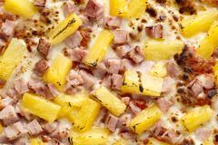 Macro shot of hawaiian pizza Stock Photos