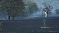Smoky Bushfire Stock Footage