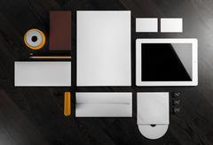 Mock-up for branding identity Stock Photos