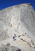 Half Dome, Yosemite National Park, Sierra Nevada Mountains, California, USA - stock photo