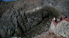 La Bufadora Blow Hole long shot spray Stock Footage