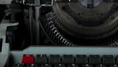Typewriter dolly close up Stock Footage