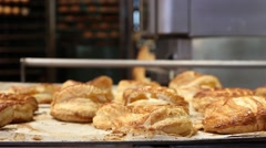 Bakery, bread, flour Stock Footage
