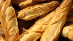 Bread in a bakery - stock footage