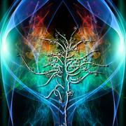 tree aura - stock illustration
