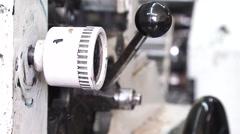 Printing machine working Stock Footage