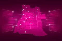 Stock Illustration of angola map world map news communication pink