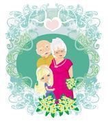 happy grandparents day - stock illustration