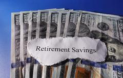 Retirement savings Kuvituskuvat