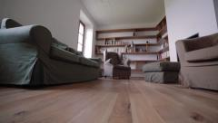 Homey living room of new house - stock footage