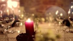 Special occasion dinner Stock Footage