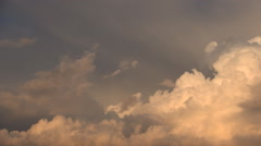 Sunset with beginning of a storm. A lot of grey clouds. - stock footage