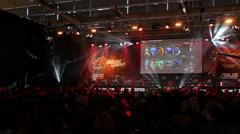 Dreamhack Dota 2 game, 4k Stock Footage