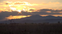 HD. Splendid sunset in a mountain timelapse landscape. End of the day. Stock Footage