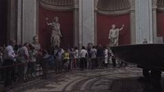 Rome Italy Vatican art sculptures tourism 4K 009 Stock Footage