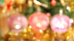 Christmas tree balls. Input - stock footage
