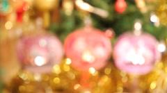 Christmas tree balls. Input Stock Footage