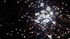 Fireworks, new year`s eve, magnificent various colors, video Stock Footage