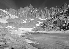 Mount Whitney, Sierra Nevada Mountains, California, USA Stock Photos
