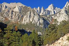Mount Whitney, Sierra Nevada Mountains, California, USA - stock photo
