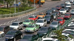 4K, UHD, Traffic jam in Shanghai, China, BlackMagic Production Camera Stock Footage