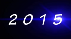 2015 Happy New Year New Years Eve Stock Footage