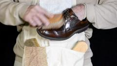 Shoe shiner Stock Footage