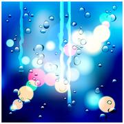 Drops on the glass Stock Illustration