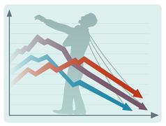 The economic collapse Stock Illustration