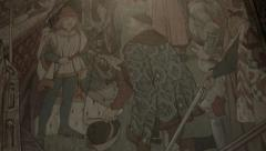 Artwork in Scotland, Siege of Roxburgh with King James III Stock Footage
