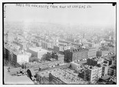 Birds eye view of N.Y.C. from roof of Cons. Gas Co's Bldg. Stock Photos