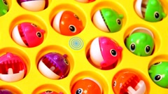 playing with toys Fish with  sound - stock footage