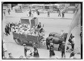 Suffrage Hay Wagon Stock Photos