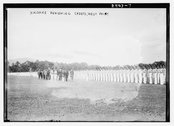 [Viscount] Haldane reviewing Cadets, West Point Stock Photos