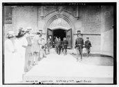 Haldane leaving gymnasium, West Point Stock Photos