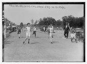 Brooklyn Children's Field Day [end 100 yd. final] Stock Photos