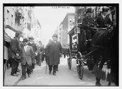 E.E. McCall at Tim Sullivan funeral Stock Photos