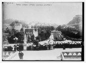 Park from Upper Church, Lourdes Stock Photos